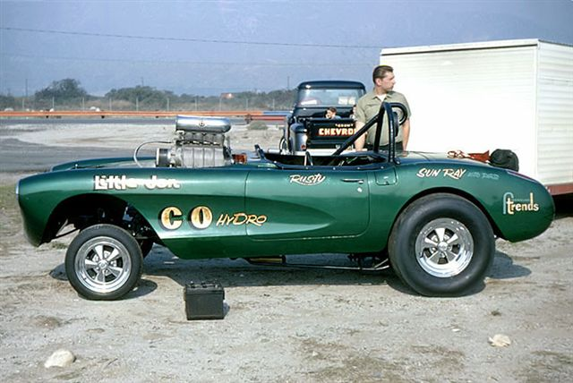 Rusty Delling Corvette gasser 1968-01-01 Irwindale MikeDitty