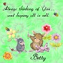Betty Sew thinking of you