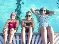 Lounging at the Webster pool