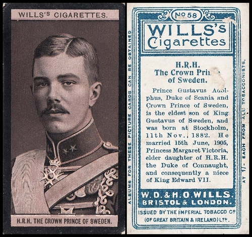 1908 Wills European Royalty #058
