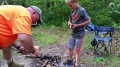 Patrick Austin starts his first Camp Fire-1