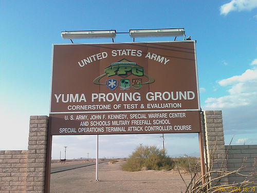 FReeper Canteen Road Trip Yuma Proving Ground Arizona JAN - Us military installation map for yuma proving ground