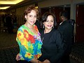 Lydie Smith in the company of PR Rachel Moscoso Denis.
