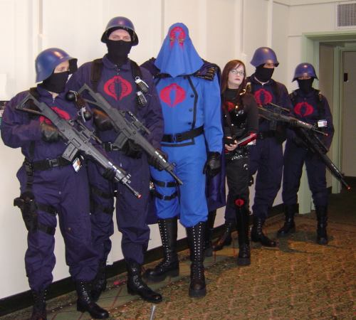 Cobra troopers, Cobra Commander & The Baroness