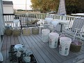 My back deck makes the perfect place for washing and filling the Demijons.