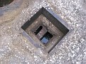 I built this box to avoid digging up a larger area for when inspecting.