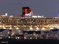 QM2 at night Southampton