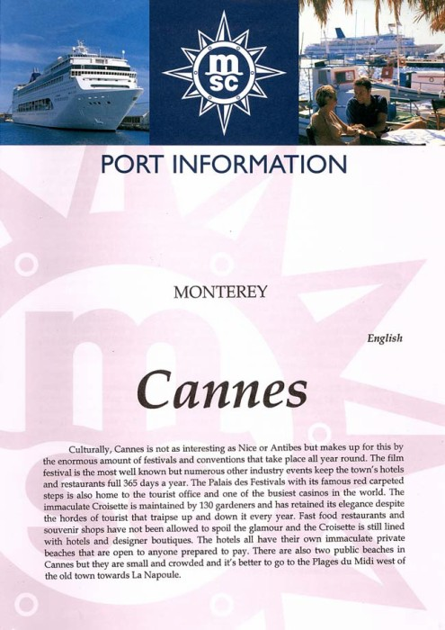 Cannes Port Information Page 1