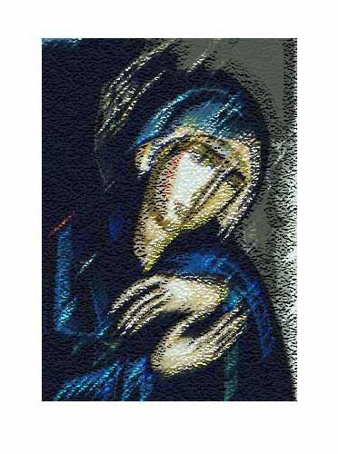 The Blue Madonna @2008 R valerie jagiello