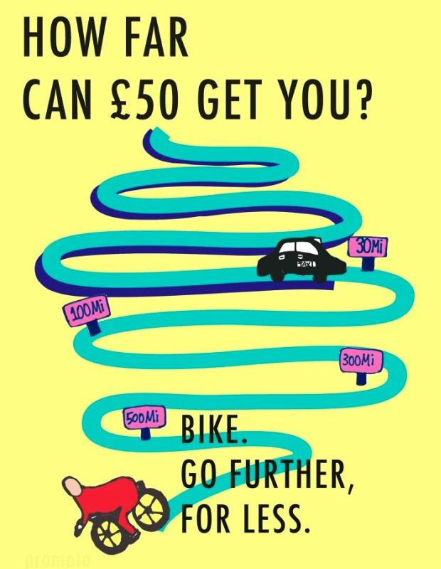 Bike. Go further for less.