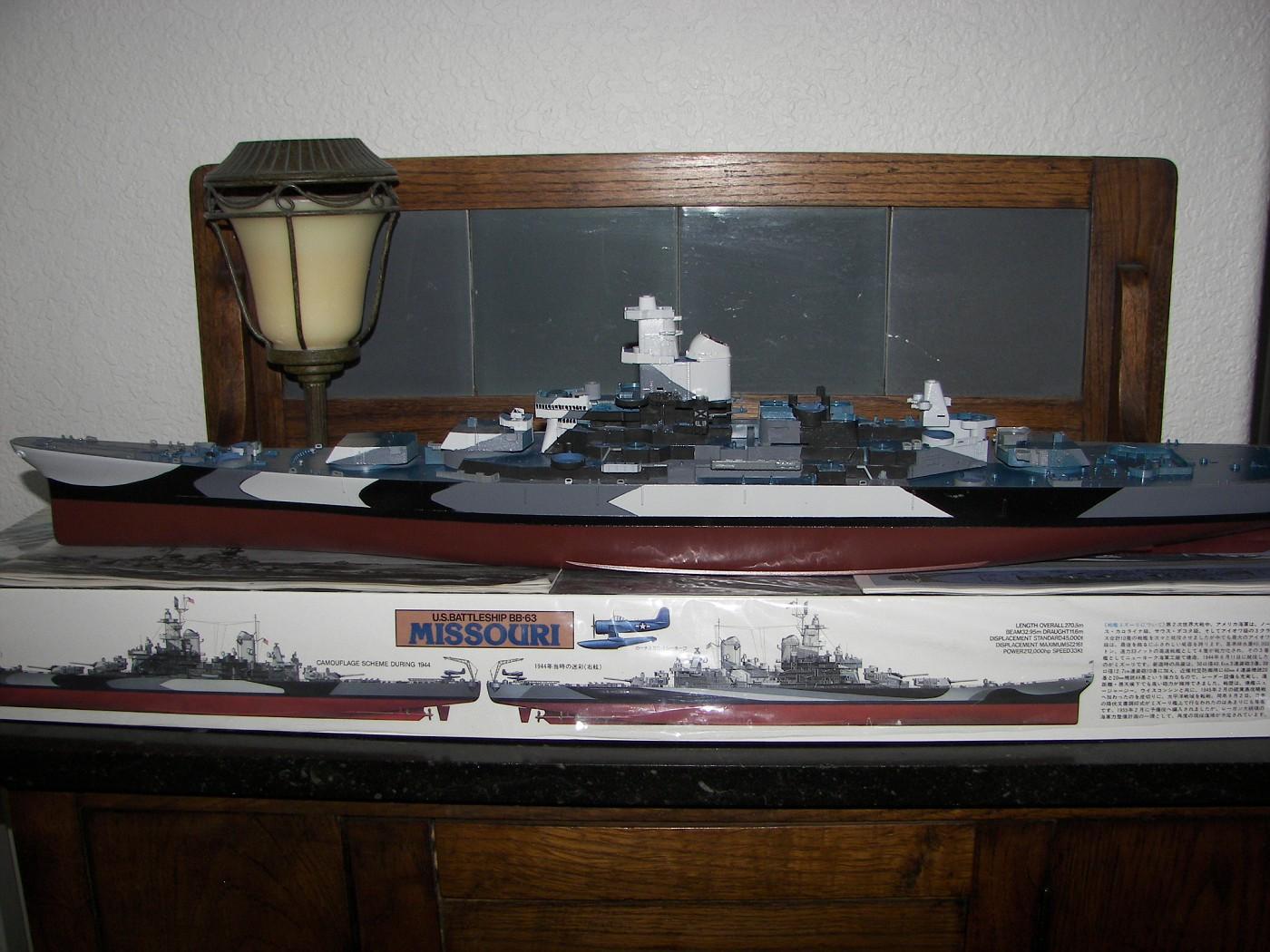 USS Missouri, port side camo scheme
