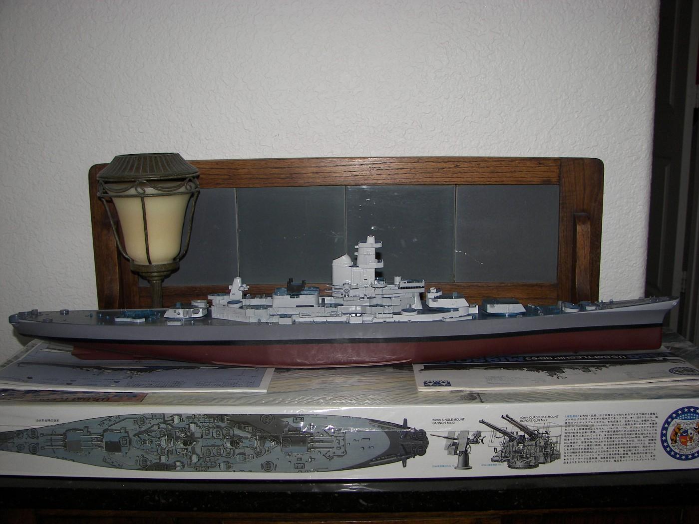 USS Missouri starboard side paint scheme