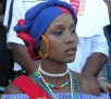 """One of the Hostesses during the """"Match de la Paix"""": Brazil v. Haiti at Stade Sylvio Cator August 2004"""