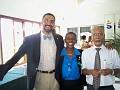 Dr Emile Charles, Dr Carine Cleophant organisatrice du congres, Dr Pierre Boncy responsable de la logistique.