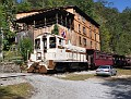 The South Fork Scenic Railway passing through the Barthell Coal Mine.