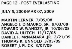 PAGE 12d - POST EVERLASTING - JULY 5, 2008-MAR 07, 2009