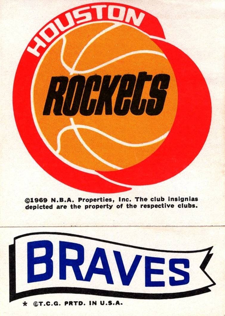 1973-74 Topps Stickers Rockets-Braves