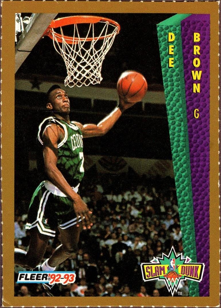 1992-93 Fleer Slam Dunk Dee Brown (1)