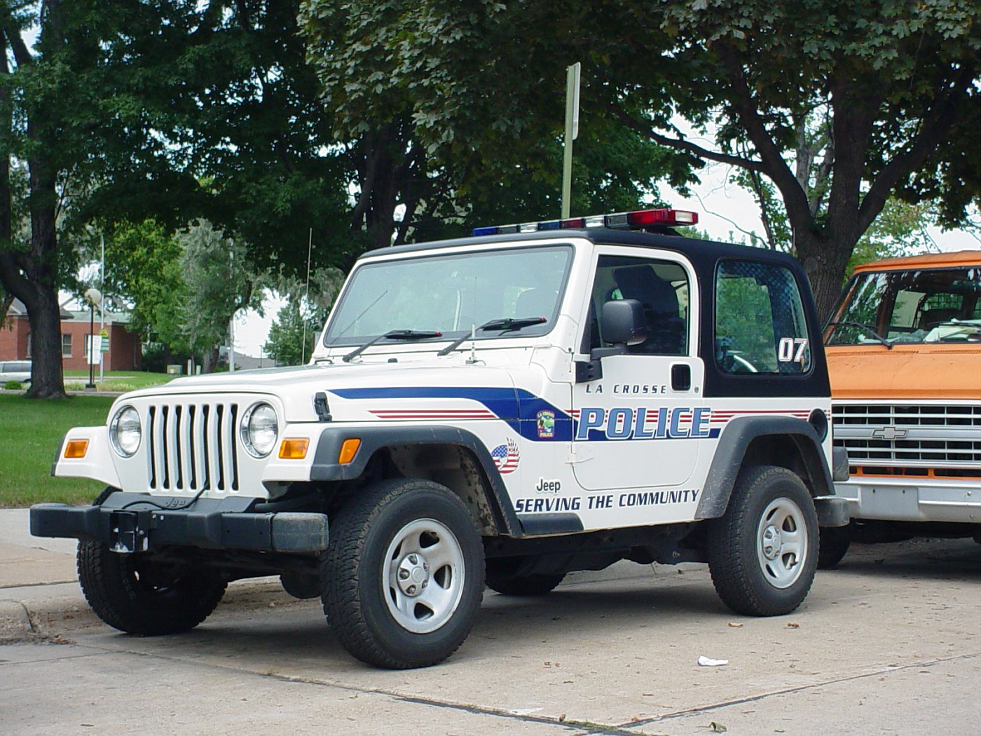 WI- LaCrosse Police 2002 Jeep +RIGHT HAND DRIVE+