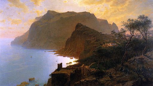 The Sea from Capri [c,1875]