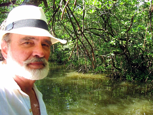 TBill with a selfie in the swamp