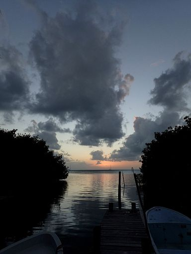 sunset at Caye Caulker