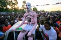 A supporter of Haitian Presidential candidate Michel Martelly takes part during a rally in Port-au-Prince