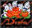 3 Ghosts & pumpkinDonna