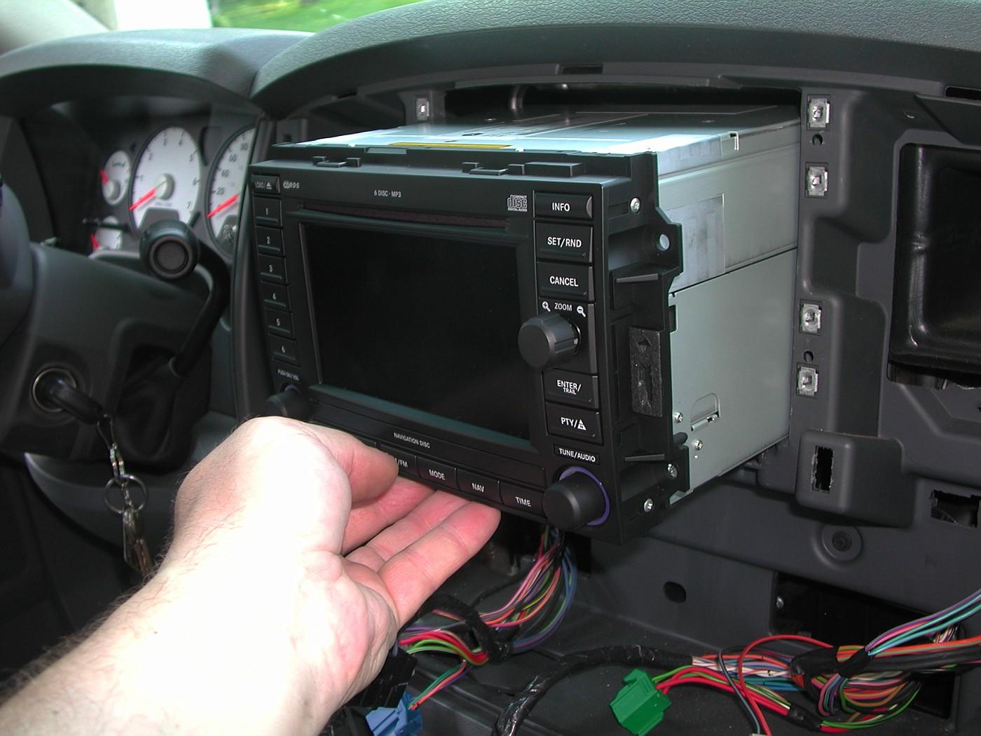 2007 Ram Navigation Radio (REC) installation (PIC'S ... Rec Jeep Wiring Harness on