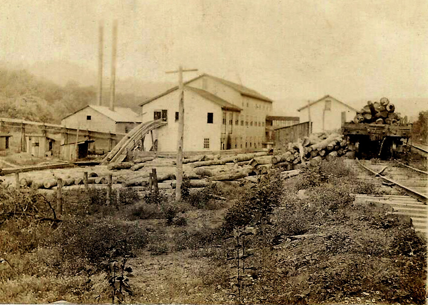 Close Pin Factory at Norma, Scott, TN, in early 1900's