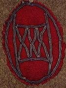 "54 - WWl Shoulder Patch worn by Edward ""ED"" Hutson"