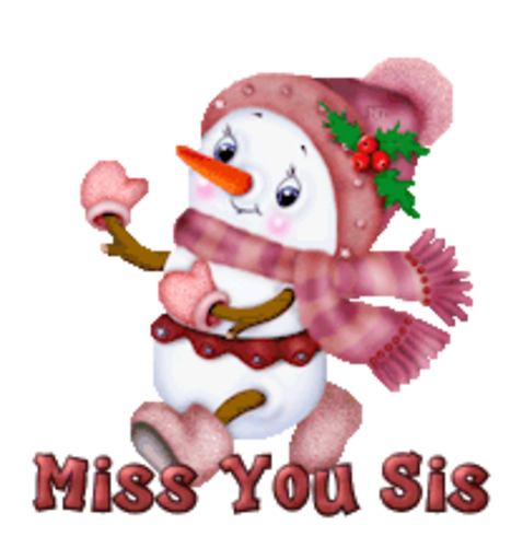 Miss You Sis - CuteSnowman