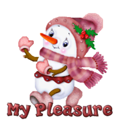 My Pleasure - CuteSnowman