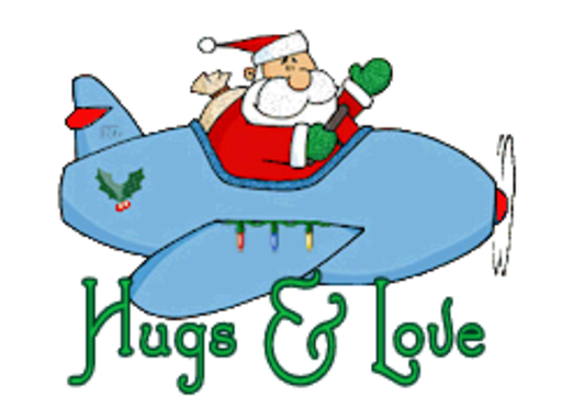 Hugs & Love - SantaPlane