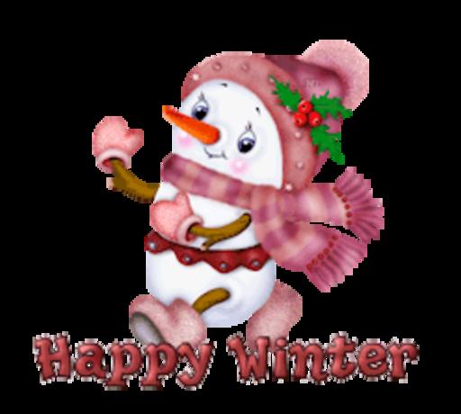 Happy Winter - CuteSnowman