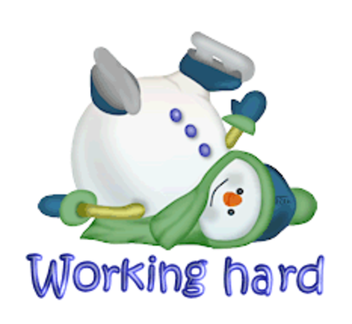 Working hard - CuteSnowman1318