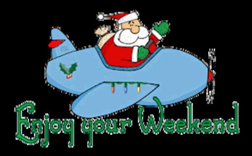 Enjoy your Weekend - SantaPlane
