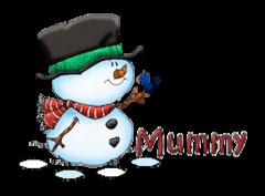 Mummy - Snowman&Bird