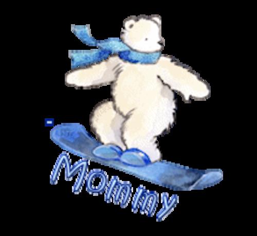 Mommy - SnowboardingPolarBear