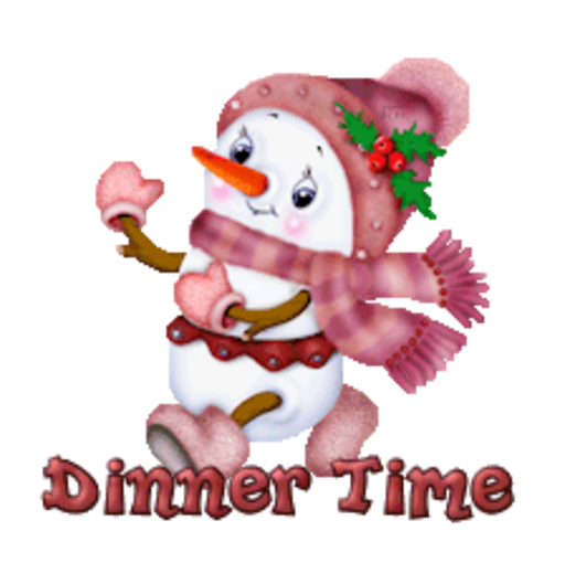 Dinner Time - CuteSnowman