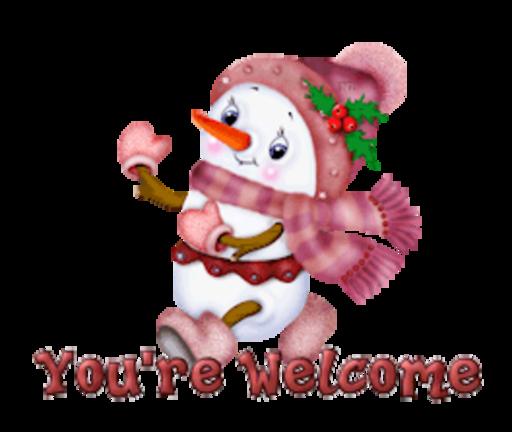 You're Welcome - CuteSnowman