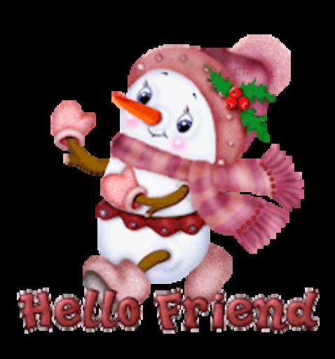 Hello Friend - CuteSnowman