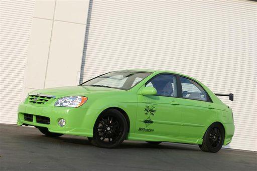 2004 Kia Spectra Green Scream