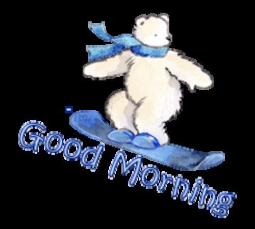 Good Morning - SnowboardingPolarBear