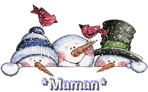 Maman - Three Snowmen-Kari-112417