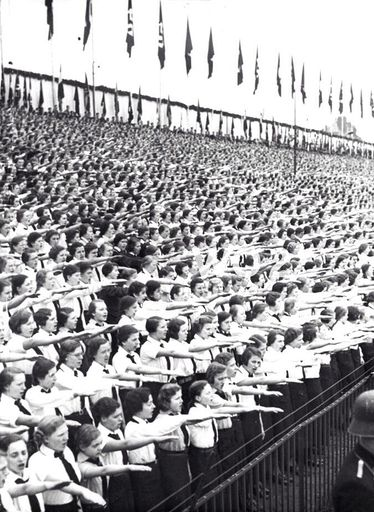 Hitler Youth Rally in Dante Staidum, Munich