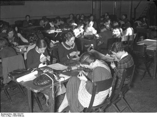 BDM girls sewing
