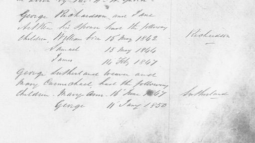 Birthdates of William, Samuel, and James Aitken