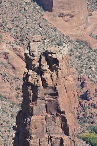 The top of the taller spike of Spider Rock