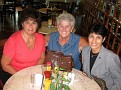 Joanne, Pat & Susan - Still in Philly but already smiling